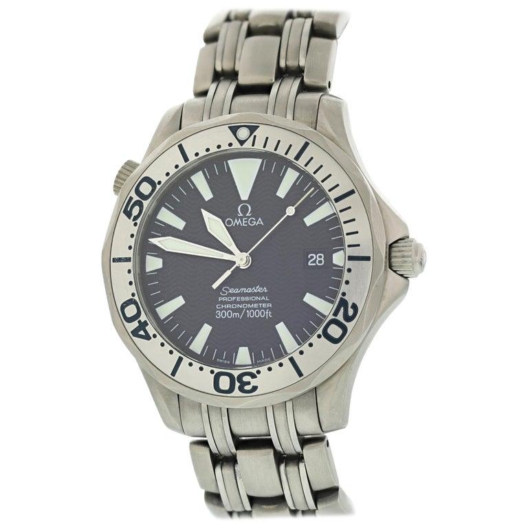 Omega Seamaster Professional 2231.80 Titanium Men's Watch For Sale