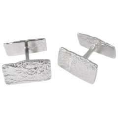 Paper Textured Sterling Silver Cufflinks by Allison Bryan