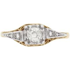 Art Deco Diamond Solitaire Engagement Ring, circa 1920s