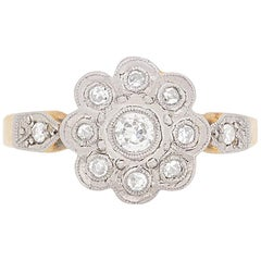 Edwardian Diamond Cluster Ring, circa 1910