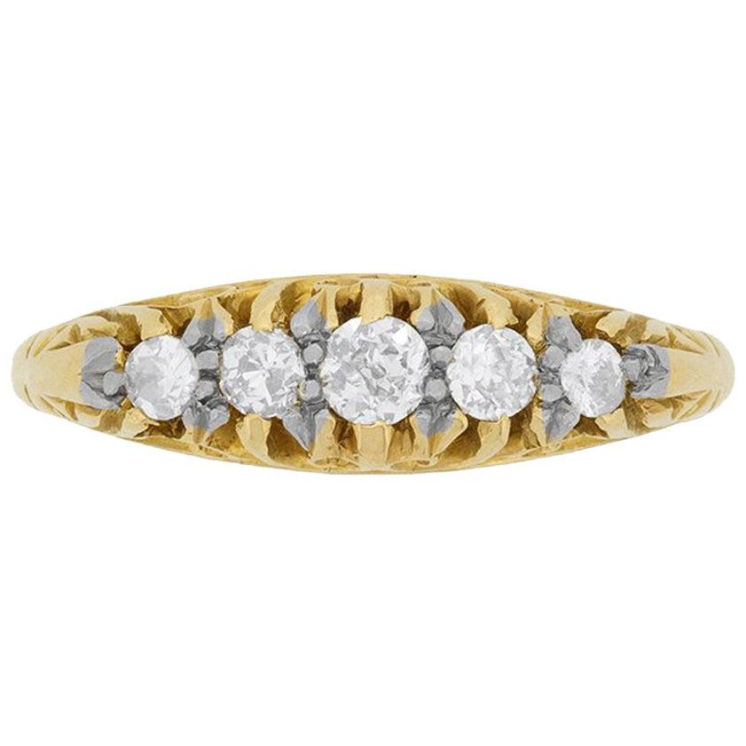 Victorian Five-Stone Diamond Ring, circa 1880s