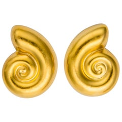 Ilias Lalaounis Nautilus Shell Earrings