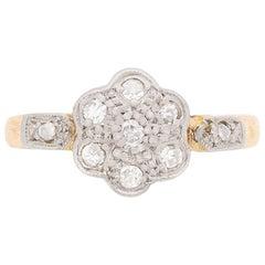 Edwardian Diamond Daisy Cluster Ring, circa 1910