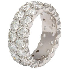 Double-Row Diamond Eternity Band 8.50 Carat 18 Karat White Gold