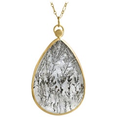 Monica Marcella Double Sided Faceted Dendritic Quartz One of a Kind Necklace