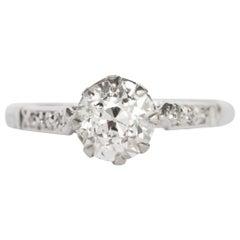 .95 Carat Diamond Platinum Engagement Ring