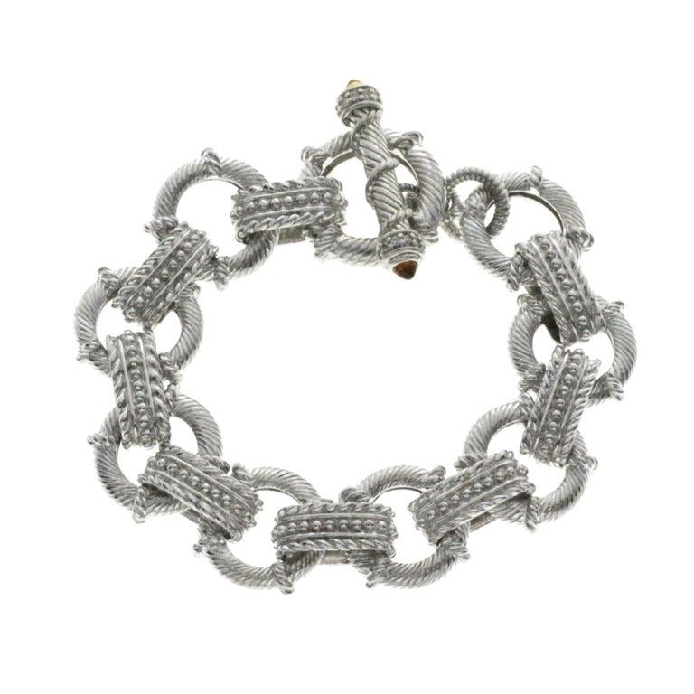 0f937012581a9 Judith Ripka 925 Sterling Silver Citrine Link Bracelet