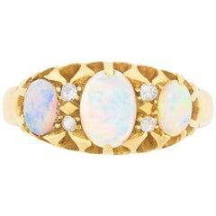 Edwardian Opal and Diamond Ring, circa 1907