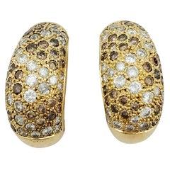 Cartier Earrings Set with Diamonds
