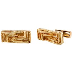 Chaumet Yellow Gold Rectangle Cufflinks