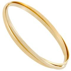 Cartier Trinity Yellow White and Rose Gold Rolling Bangle Bracelet