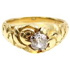 Belle Époque Old Mine Diamond 18 Karat Gold Ring