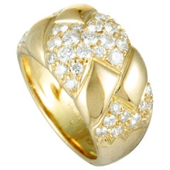 Van Cleef & Arpels Diamond Pavé Yellow Gold Band Ring