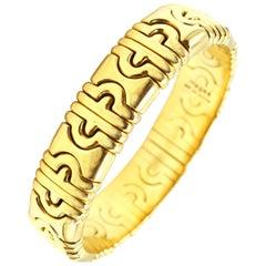 Bulgari 18 Karat Gold Parentesi Bangle Bracelet
