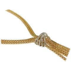 Fope Gioielli Rope Pave Diamond Necklace