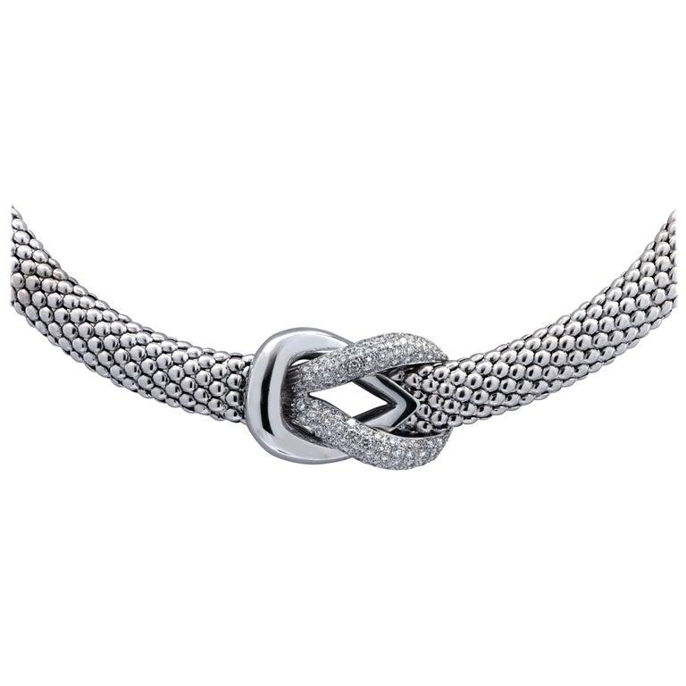 2 Carat Diamond Necklace For Sale