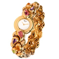Chopard Multi Stone 18 Karat Gold Collectible Ladies Watch