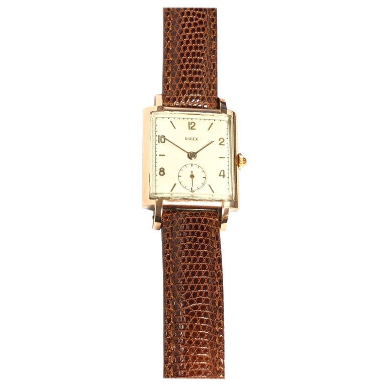 Rolex 1940 Rose Gold and Steel Mechanical Wristwatch For Sale