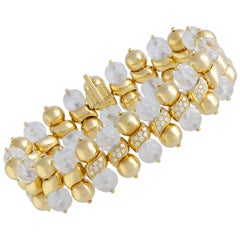 Boucheron Bohème Diamond and Crystal Yellow Gold Bracelet