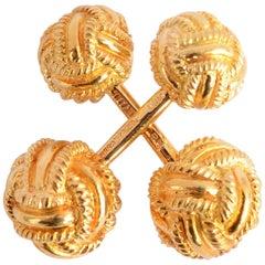 Schlumberger Gold Barbell Knot Cufflinks