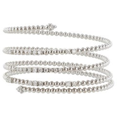 1.57 Carat Diamond Wrap Bracelet '18 Karat White Gold'