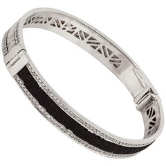 Yvel White Gold Bangle with Diamonds