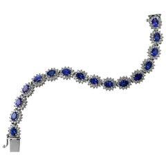 Armband aus Tansanit und Diamant