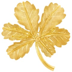 Gubelin Gold Leaf Brooch