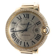 Cartier Ballon Bleu Watch 18 Karat Yellow Gold with Diamonds
