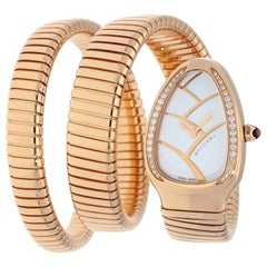 Bvlgari Tubogas 102450 Rose Gold Serpenti Watch
