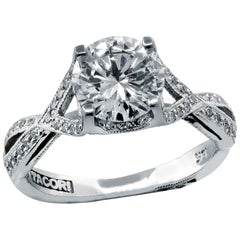 Tacori GIA Certified 1.32 Carat Diamond Engagement Ring