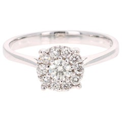 0.41 Carat Diamond 14 Karat White Gold Ring