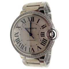 Cartier Ballon Bleu watch 18 karat white gold with diamonds 36mm