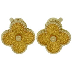 Van Cleef & Arpels Vintage Alhambra Yellow Gold Clip-On Earrings