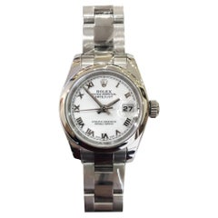 Rolex Woman's Datejust Stainless Steel White Dial Watch