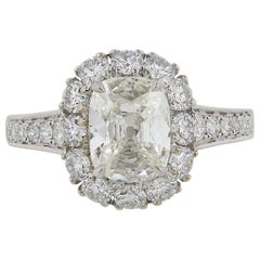 1.40 Carat Cushion Cut Diamond Ring '18 Karat White Gold'