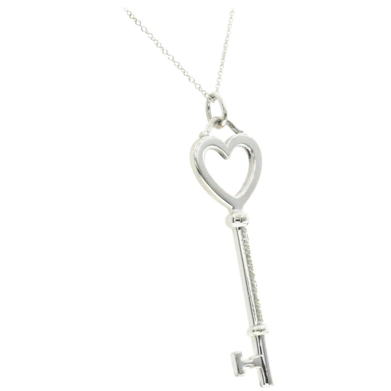 Tiffany And Co 925 Sterling Silver 2 Key Necklace For Sale At 1stdibs