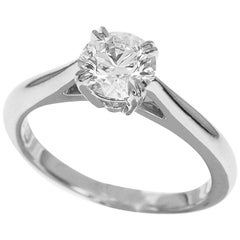 Harry Winston 0.70 Carat Diamond Platinum Engagement Solitaire Ring