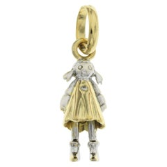 Links of London 18 Karat Yellow and White Diamond Girl Pendant Charm