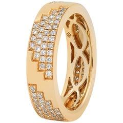 Maison Tjoeng La Azteca 18k gold eternity diamond ring