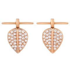 Lazarus Small Diamond 18 Karat Gold Stud Earring