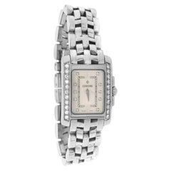 Concord Sportivo Sterling Steel Quartz Ladies Tank Watch