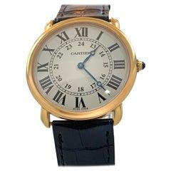 Cartier Silver Dial 18 Karat Yellow Gold Watch