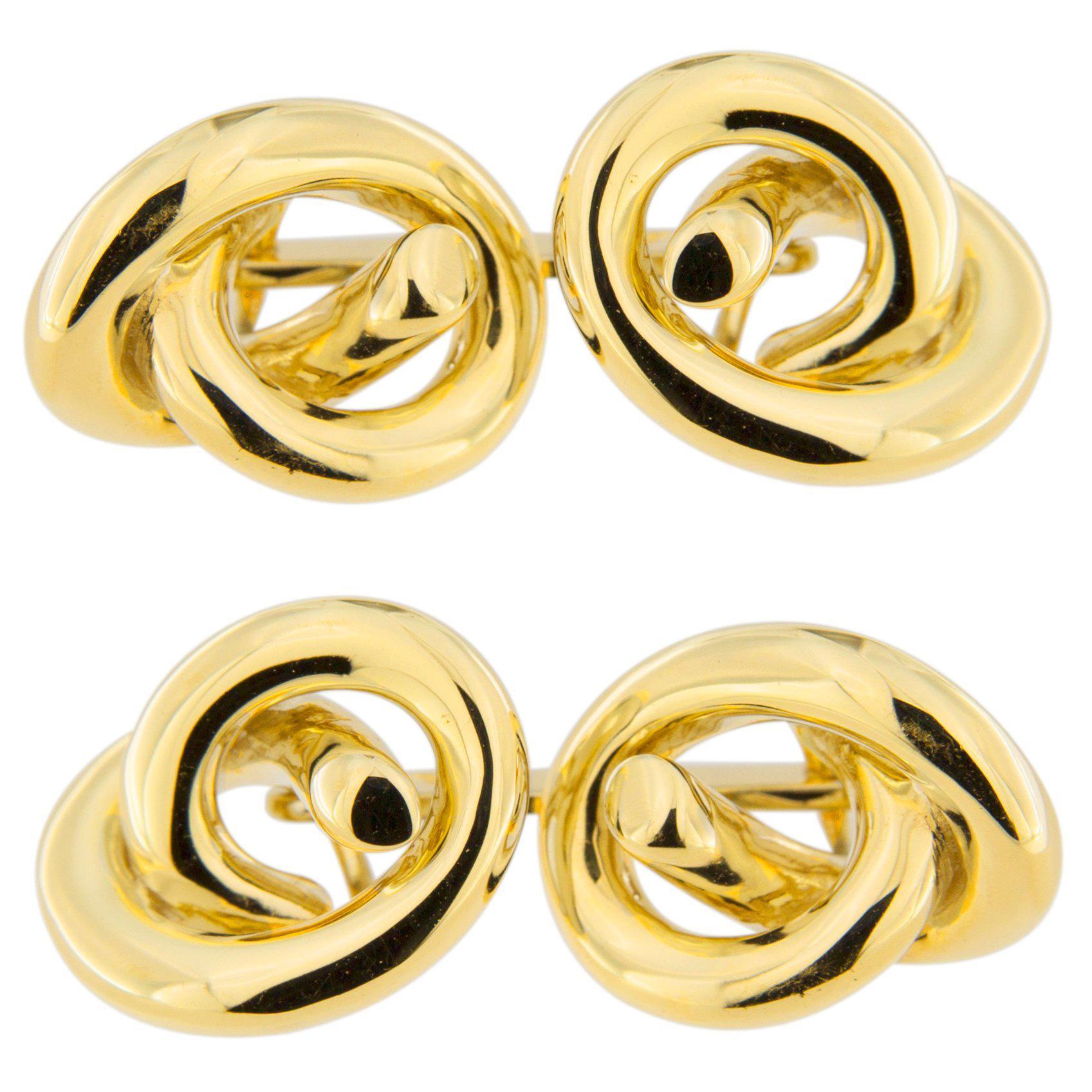 Jona Knot 18 Karat Yellow Gold Cufflinks