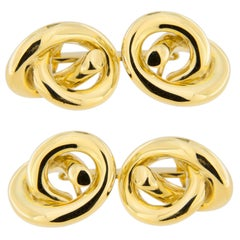 Jona Knot 18 Karat Yellow Gold Cufflinks