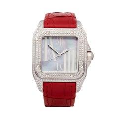 Cartier Santos 100 18k White Gold 2881 Wristwatch