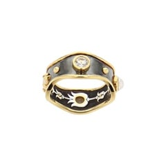 Opal Bandeau Ring by Elie Top