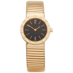 Bulgari Tubogas 18k Yellow Gold BB302T Wristwatch