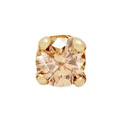Champagne Diamond Stud Earring 'Single' by Allison Bryan