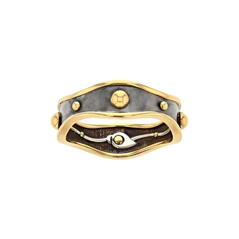 Gold Bandeau Ring by Elie Top For Sale